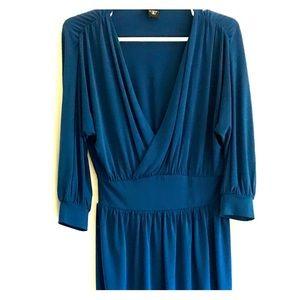 Moda International Navy Blue Midi Dress $45